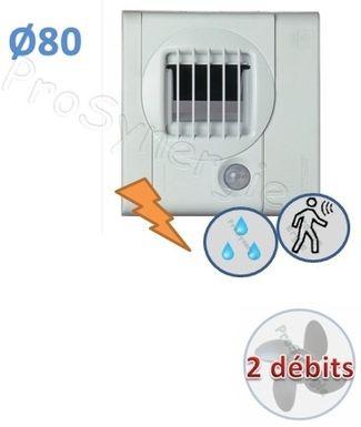 Bouche D Extraction D Air Salle De Bain Ou Wc Avec Detecteur De Presence Prosynergie