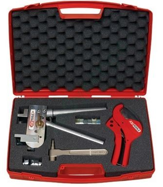 COFFRET PLOMBIER PINCE A SERTIR RACCORD A GLISSEMENT TUBE P.E.R PLOMBERIE NEUF