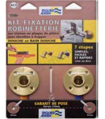 Kit Platine Douche Entraxe 150mm Visser F Fixe Raccord Per A