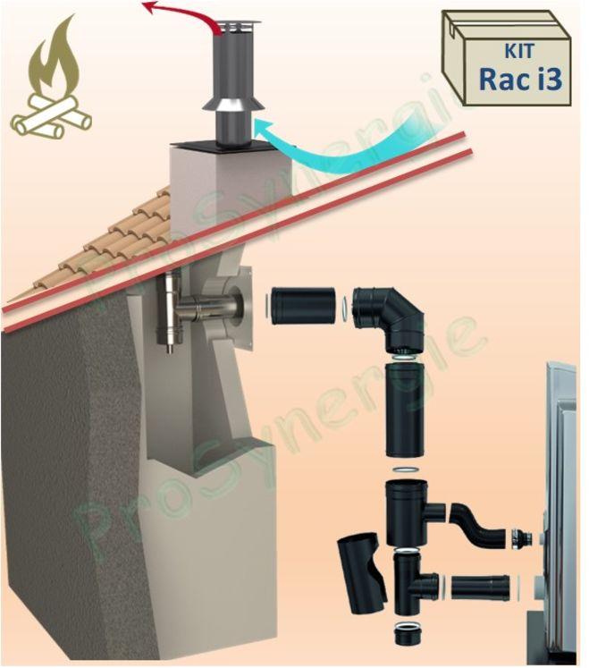 kit raccordement d un po le tanche granules une. Black Bedroom Furniture Sets. Home Design Ideas