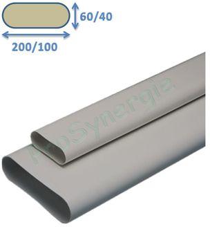 Gaine De Ventilation Plate Vmc Pvc Minigaine Aldes Prosynergie