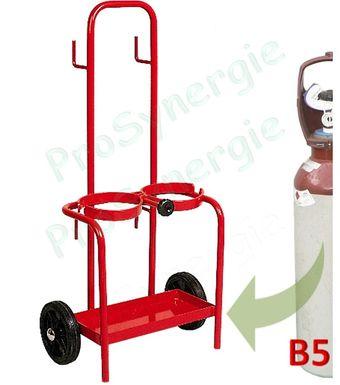 chariot de poste souder pour deux bouteilles b5. Black Bedroom Furniture Sets. Home Design Ideas