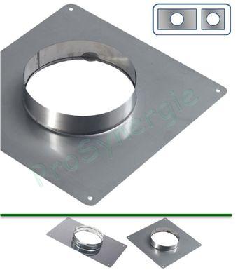 Plaque d´Etanchéité haut de cheminée Inox carrée 350x350 ou  rectangulaire300x400mm 404e9ad4e65c