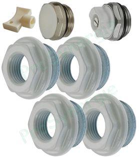 Lot de 20 cl/és de purge de radiateur robustes en aluminium pour cl/é de purge pour tous les radiateurs 5 mm